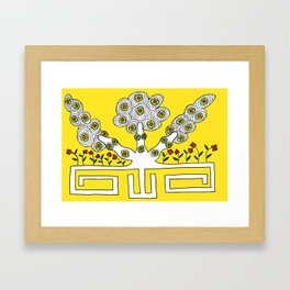 Rooted women Framed Art Print