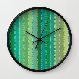 Multi-faceted decorative lines 6 Wall Clock