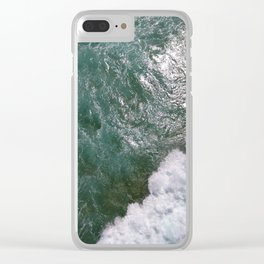 Surf Photography, Beach Wall Art Print, Ocean Water Surfing, Coast Clear iPhone Case