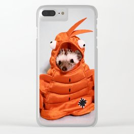 Incognito Hedgehog Clear iPhone Case