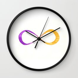 infinite (purple/yellow) Wall Clock