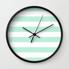 Stripe Horizontal Mint Green Wall Clock