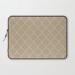 Warm Sand Quatrefoil Laptop Sleeve