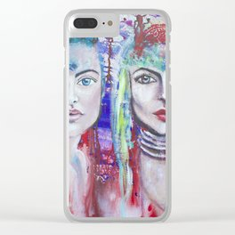 Protectors of Peace & Beauty Clear iPhone Case