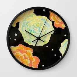 Lighted Flowers Wall Clock