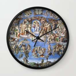"Michelangelo ""Last Judgment"" Wall Clock"