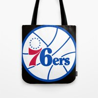 nba Tote Bags featuring NBA - 76ers by Katieb1013