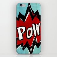comic book iPhone & iPod Skins featuring Comic Book: Pow! by Ed Pires