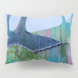 Day 13 In The Woods, Contemporary Abstract Landscape Pillow Sham