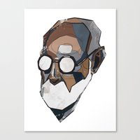 freud Canvas Prints featuring Freud by PAFF