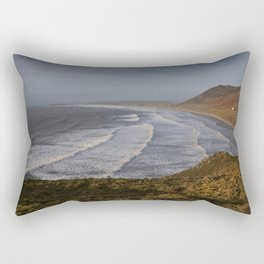 Rhossili bay in Swansea Rectangular Pillow