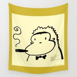 Cigar Ape in Bowtie Wall Tapestry