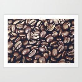 roasted coffee beans texture acrfn Art Print
