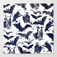 bats Canvas Prints featuring BATS by DIVIDUS