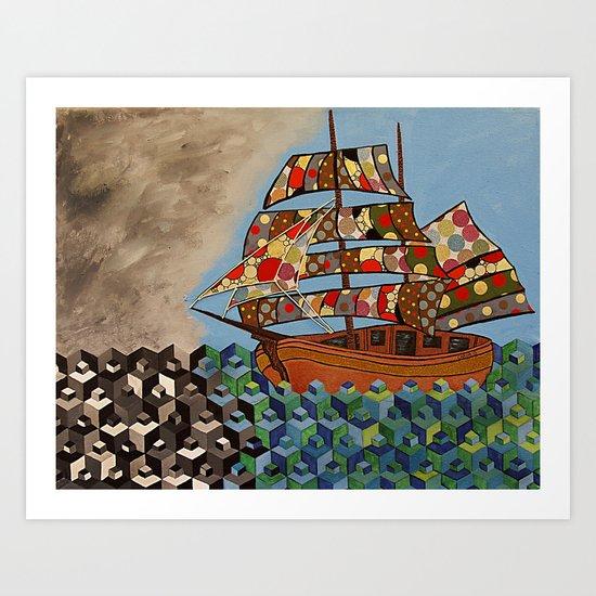 The Ship Brings The Light Art Print