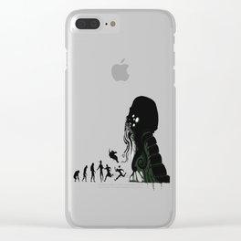 Lovecraftian Darwinism Clear iPhone Case