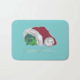 Happy Holiday Hedgehog by Chrissy Curtin Bath Mat