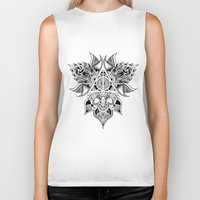 deathly hallows Biker Tanks featuring Deathly Hallows  by KropsGrafik