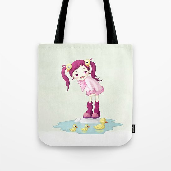 Puddle Ducks Tote Bag