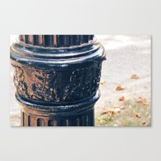 Leaves On A Lamp Post Canvas Print