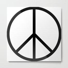 CND Peace Symbol Metal Print