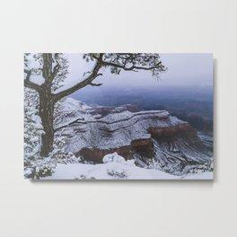 Snowy Grand Canyon Mesa Metal Print
