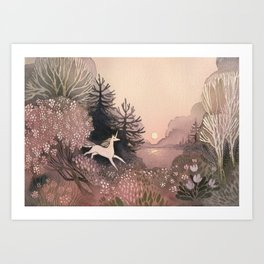 Blooming Forest Art Print