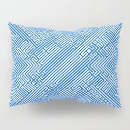 Optical Chaos 05 blue Pillow Sham
