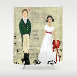 Mr.Darcy of Pemberley and Miss Bennet of Longbourn Shower Curtain