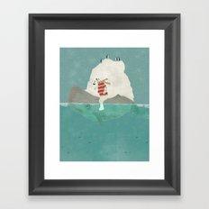 winters journey Framed Art Print