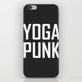yoga punk iPhone Skin
