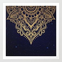 MANDALA IN STARRY NIGHT Art Print