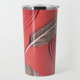 Feathers in the wind - paper art print Travel Mug