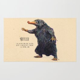Niffler art Fantastic Beasts Rug