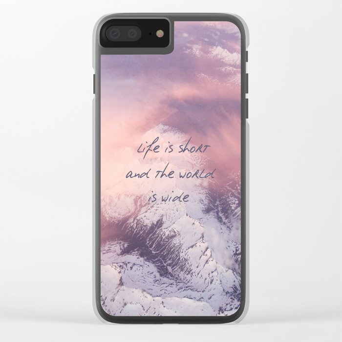 World is wide Clear iPhone Case