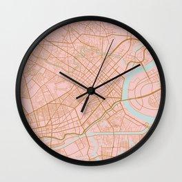 Ho Chi Minh map, Vietnam Wall Clock