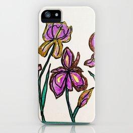 Iris with glitter iPhone Case