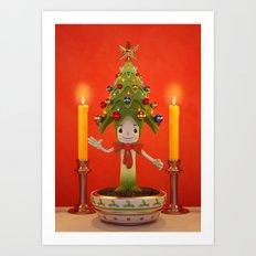 Little Christmas Tree Art Print
