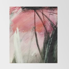 Train of thought: a vibrant abstract mixed media piece Throw Blanket