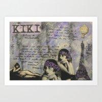 kiki Art Prints featuring KIKI by Luca Piccini