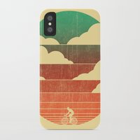 cycling iPhone & iPod Cases featuring Go West (cycling edition) by Picomodi