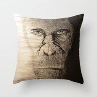 ape Throw Pillows featuring Ape  by Shuchita