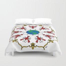Crawfish Mandala Duvet Cover