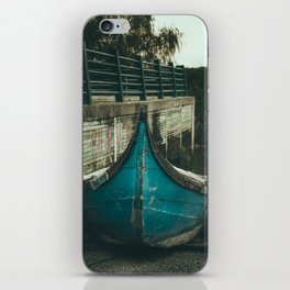 Resting boat (color) iPhone Skin