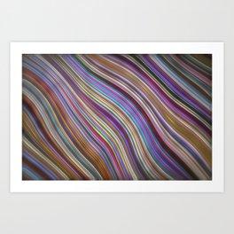 Wild Wavy Lines 20 Art Print