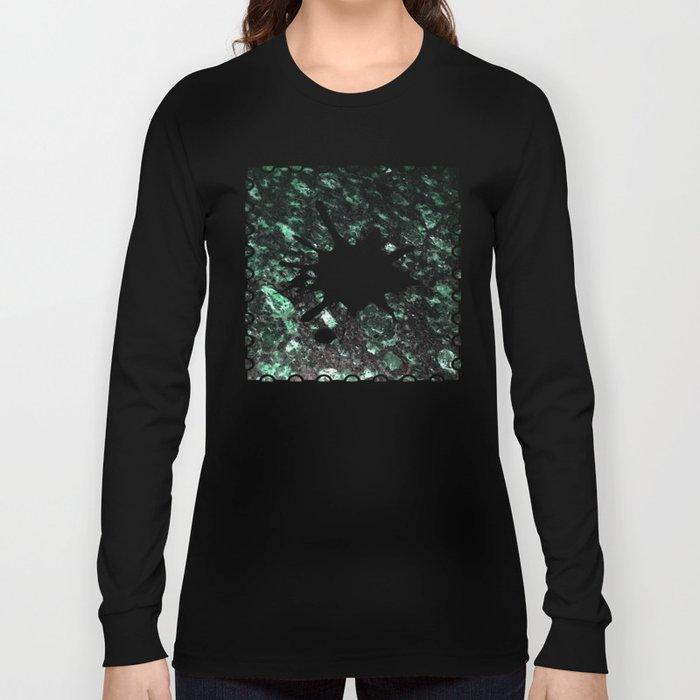 The Jade Sleeping Beneath the Black Granite Long Sleeve T-shirt