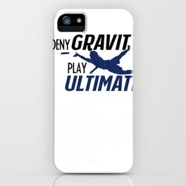 Ultimate Disc Gift Sport Jersey Player print iPhone Case