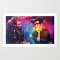Rhett and Link Art Print