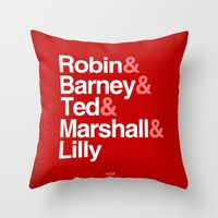 how i met your mother Throw Pillows featuring How I Met Your Mother Typography by Universo do Sofa - Artes & Etecetera