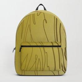 zebra stripes zebra skin  gold Backpack